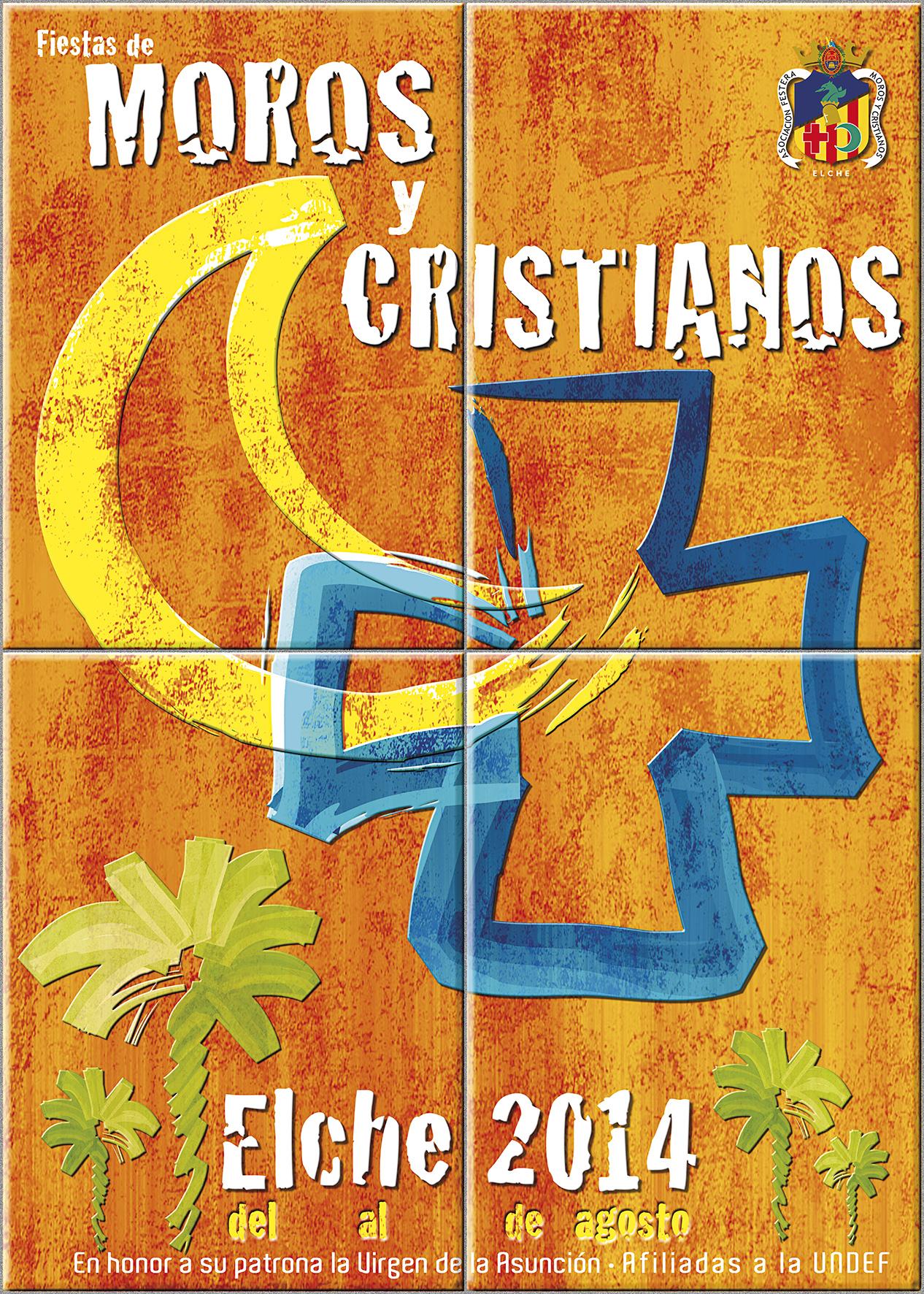 Cartel ganador Moros y Cristianos Elche 2014. Autor: Vicente Javier Poveda
