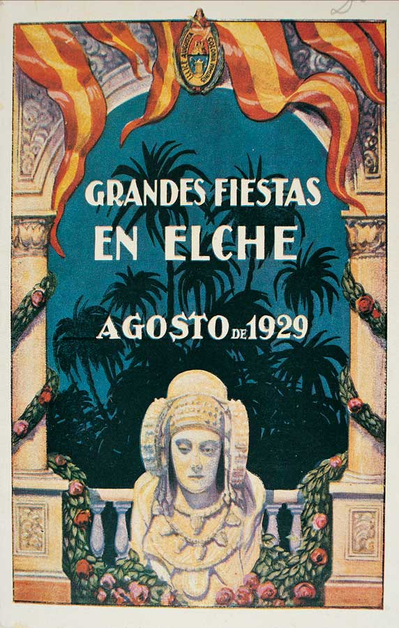 Cartel de las fiestas de Elche. Agosto 1929