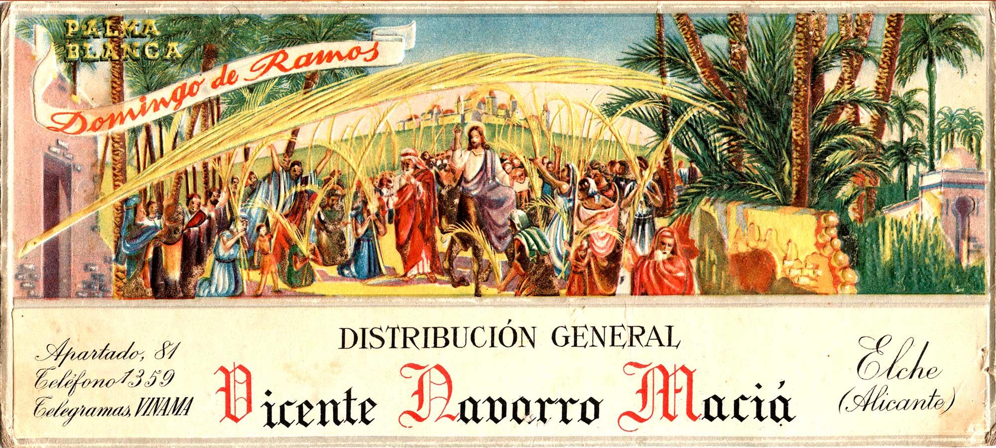 Cartel Domingo de Ramos Elche