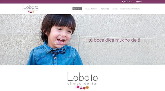 Web de éxito: Lobato Dental