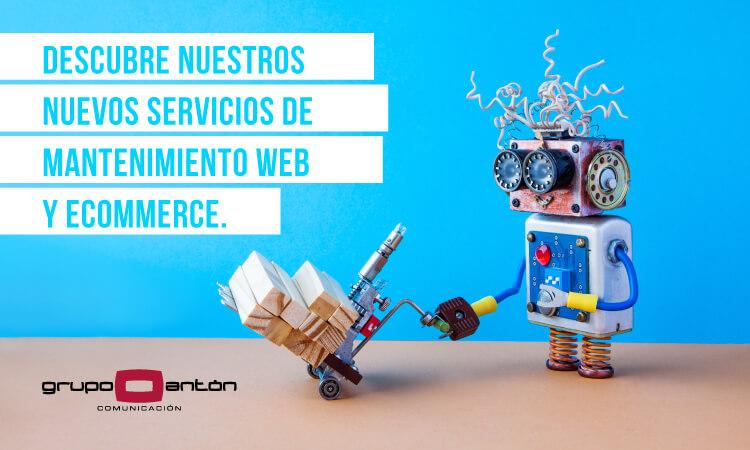 Descubre nuestros nuevos servicios de mantenimiento web y ecommerce