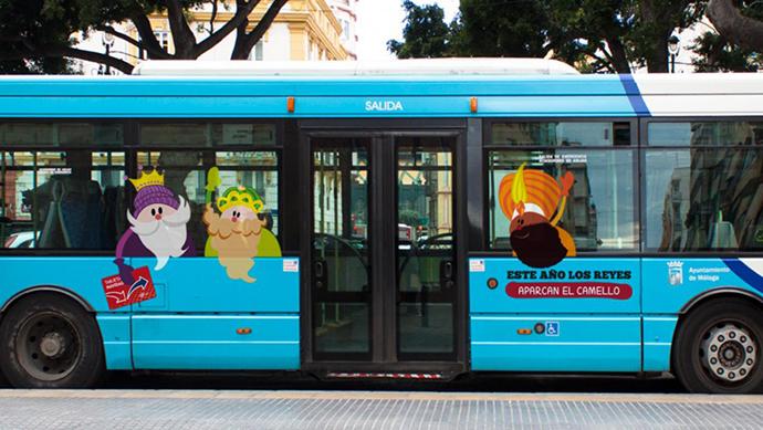 EMT campaña Navidad Bus