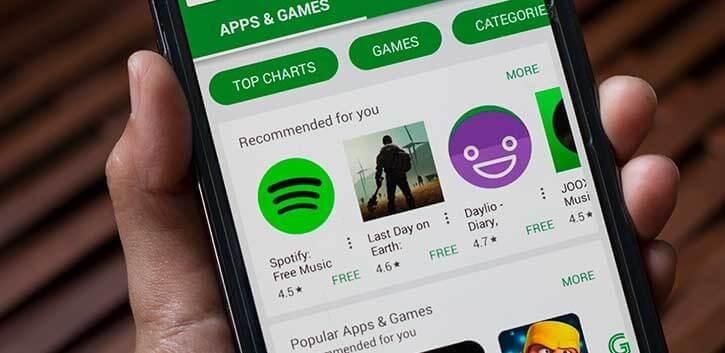 Publicidad Google Play